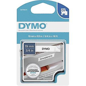 Labelling tape DYMO D1 S0718070 Polyester Tape colour: White Font colour:Black 19 mm 5.5 m