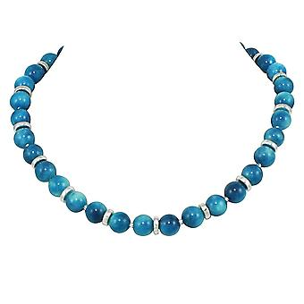 Eeuwige collectie Essentia Turquoise Maleisische Jade kralen zilver Toon ketting