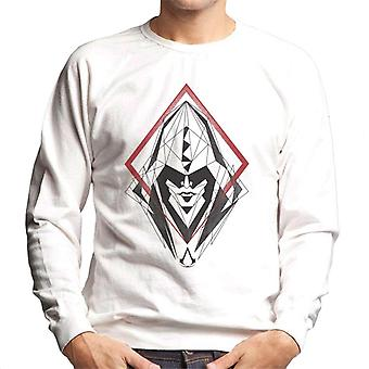 Assassins Creed Hood Line Drawing Silhouette Men's Sweatshirt