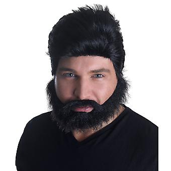 Bristol Novelty Mens Euro Pop Star Wig And Beard Set