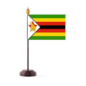 Zimbabwen taulukon lippu kiinni ja pohja