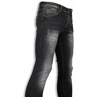Basic Jeans Black Stone Washed Regular Fit-Black