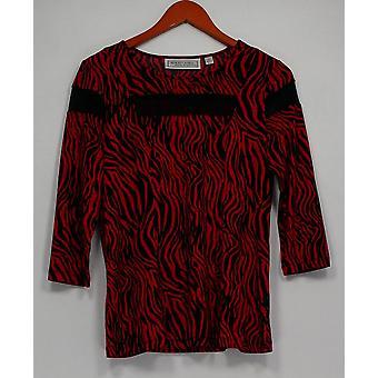 George Simonton Women's Top Zebra Print Milky Knit Black A238561