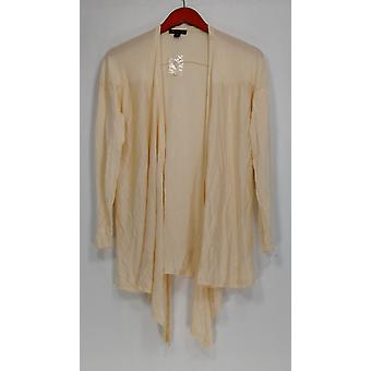 H par Halston Sweater Long Sleeve Crossover Cardigan Ivory A276472