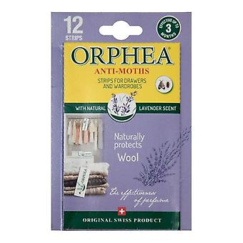 Caraselle 12 Lavender Orphea Anti Moth Strips for Drawers/Wardrobes