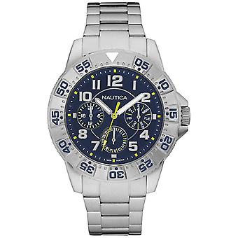 nautica- nsr 104 multi japanese quartz analog man watch with NAD16552G stainless steel bracelet