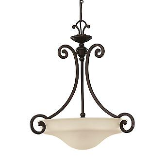 Sea Gull Lighting 65146-814 Acadia 3-Light Pendant Misted Bronze Finish