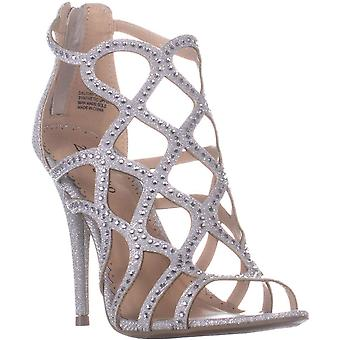 Ziginy Womens Daliyah Fabric Open Toe Special Occasion Strappy Sandals