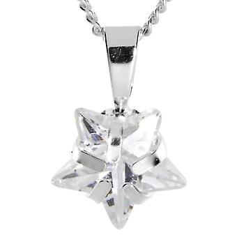 InCollections 0410200032401 - Chain with children's pendant with cubic zirconia - silver sterling 925