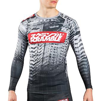 Scramble Toshi Long Sleeve MMA Rashguard - Black/White