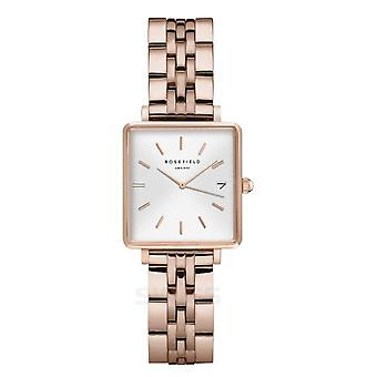 Rosefield QMWSR-Q022 Watch - Bo tier m tal gold gold bright white dial with dateur gold gold bracelet pink Women