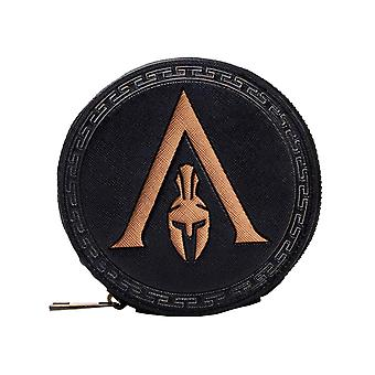 Assassins Creed Odyssey Coin Purse Greek Helmet Logo new Official  Black