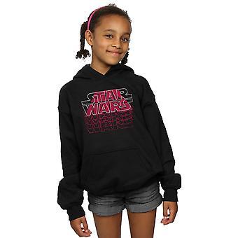 Star Wars Girls blandade logotyper hoodie