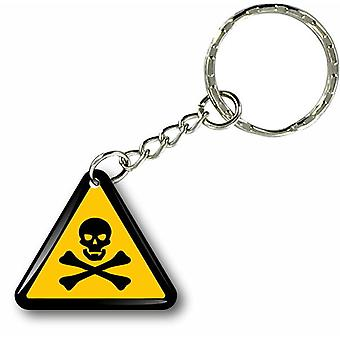 Keychain Key Cles Door Car Moto Triangle Poison Attention