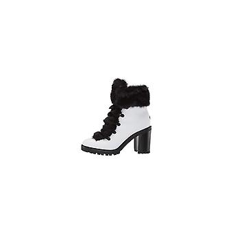 Womens gwGALWAY in pelle Round Toe caviglia combattere stivali guess