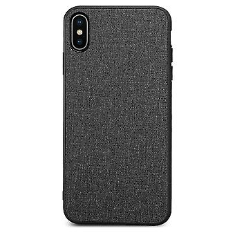 Kit Me Out Hard Back Fabric Cloth Case Cover Compatible con iPhone XS Max Shockproof Combination TPU Gel, PC and Fabric Cloth Twill Durable Protective Protection Cover