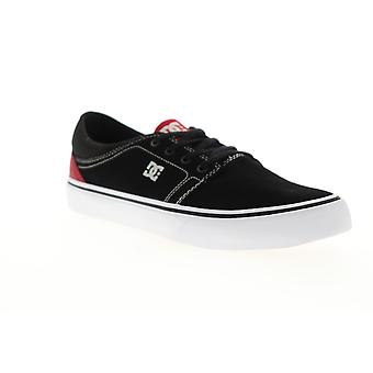 DC Trase SD  Mens Black Suede Lace Up Athletic Skate Shoes