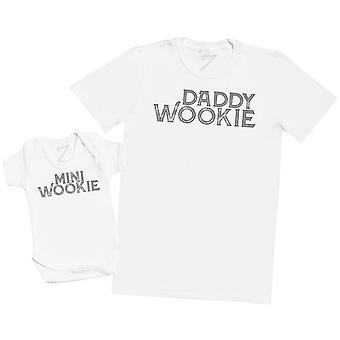 Daddy Wookie & Mini Wookie - Mens T Shirt & Baby Bodysuit