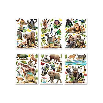 Walltastic Jungle Safari dyr Room decor Wall klistremerke Kit