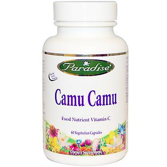 Paradise Herbs, Camu Camu, 60 bonnets végétariens