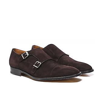 Stemar Suede Genova Monk Strap Shoes