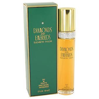Diamonds & emeralds eau de toilette spray by elizabeth taylor 403706 50 ml