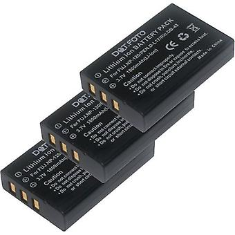 3 x Dot.Foto Ricoh DB-43 vervangingsbatterij - 3.7V / 1800mAh