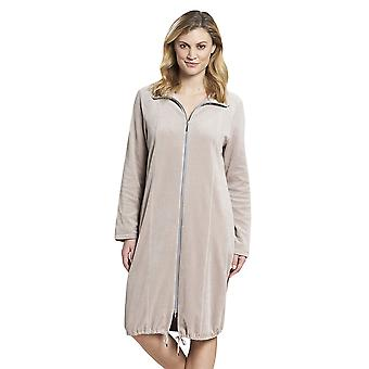 Rösch 1193610-12607 Women's New Romance Moonlight Beige Cotton Robe
