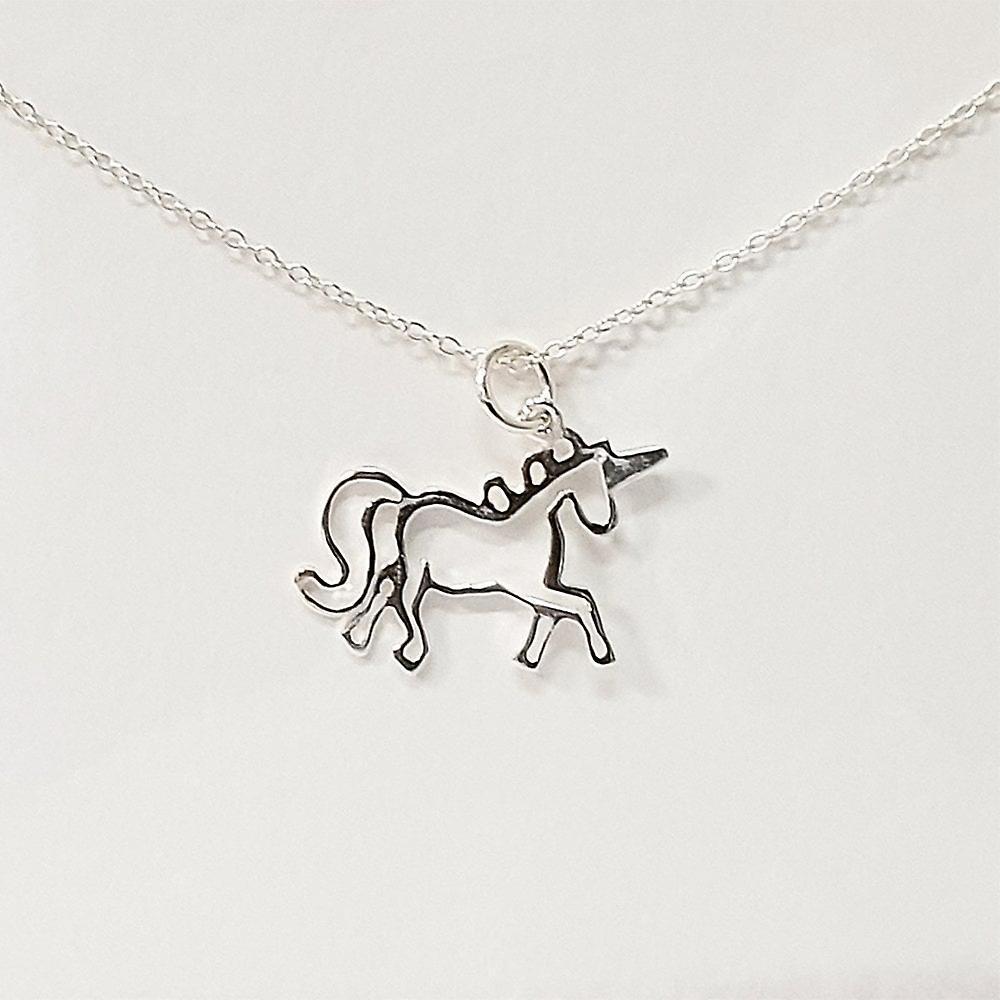 The Silver Studio Unicorn Wishes Pendant