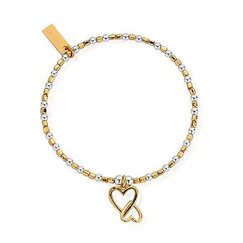 ChloBo GMBCFB1069 женщины-апос;s взаимосвязанный браслет сердца любви