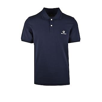 Belstaff Short Sleeved Polo Shirt Navy