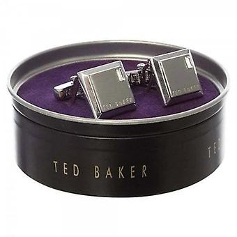 Ted Baker Golcuff Contrast Square Silver Cufflinks