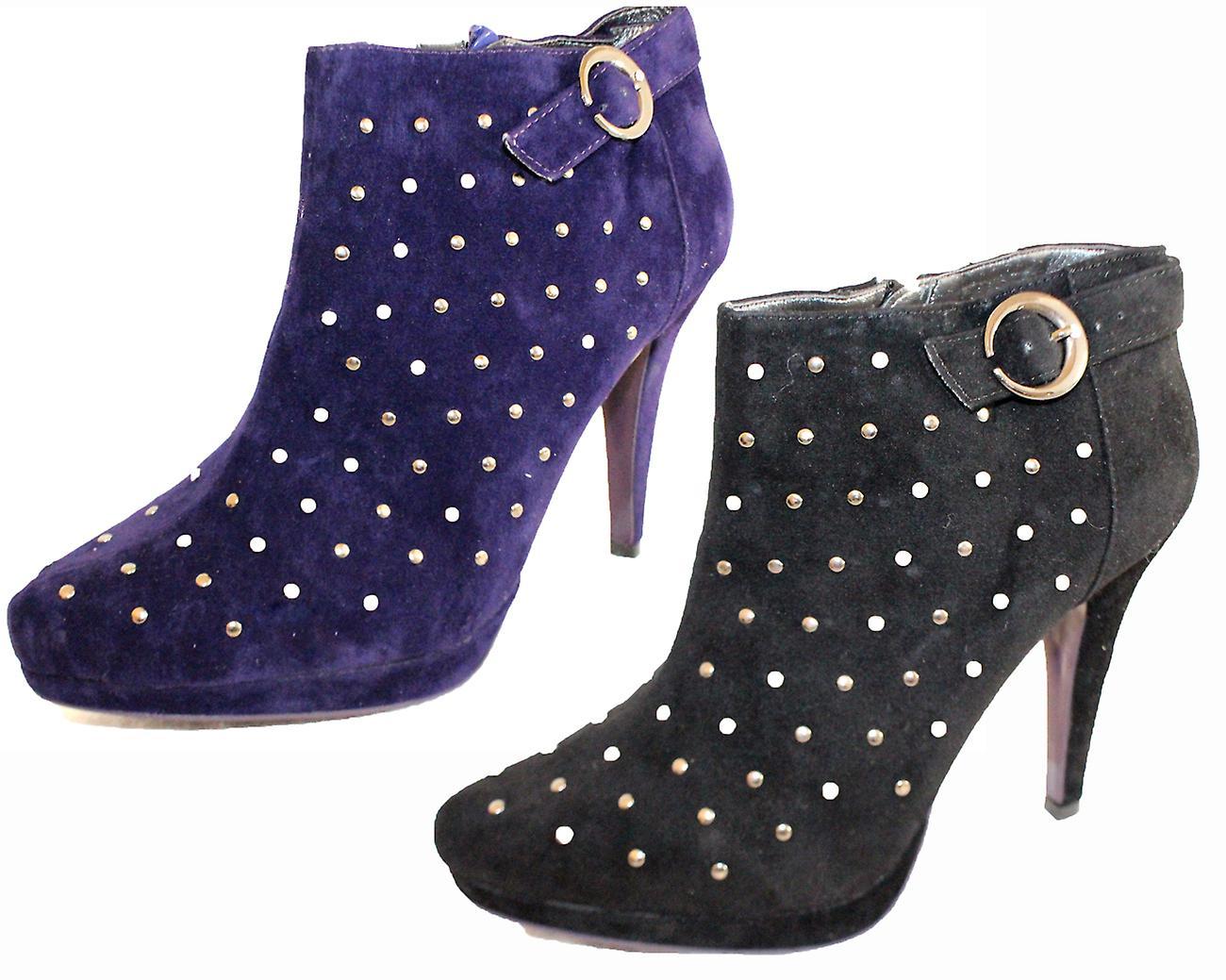Rascal Faux Suede Spotty Stud Shoe Boots FMbHi