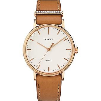 Timex Fairfield Swarovski Crystal Leather Ladies Watch TW2R70200