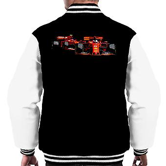 Motorsport Images Vettel Ferrari SF90 Leads Leclerc Men's Varsity Jacket