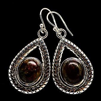 Russian Eudialyte 925 Sterling Silver Earrings 1 3/4