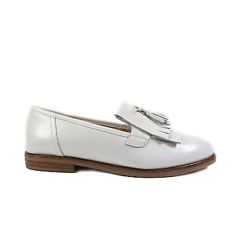 Caprice 24204 White Leather Womens Slip On Loafer Shoes