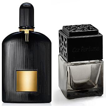 Tom Ford Black Orchid For Him Inspired Fragrance 8ml Smoked Black Bottle Car Air Freshener Vent Clip
