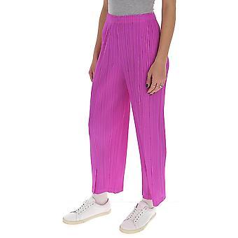 Issey Miyake Pleats Please Pp06jf16526 Women's Fuchsia Viscose Pants
