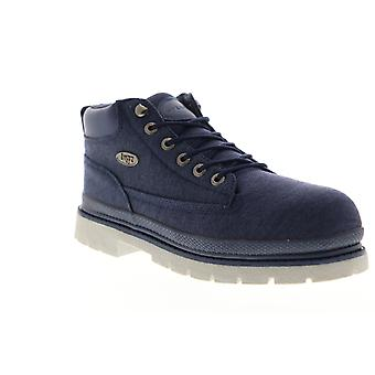 Lugz Drifter Denim  Mens Blue Canvas Mid Top Lace Up Chukkas Boots