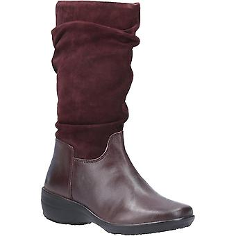 Fleet & Foster Womens/Ladies Margot Suede Leather Zip Mid Boot