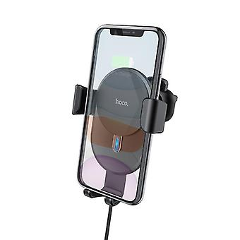 Hoco cw25 10w qi wireless charger fast charging gravity linkage auto lock air vent holder 4.0-6.5 inch qi-enabled iphone 11 samsung galaxy note 10