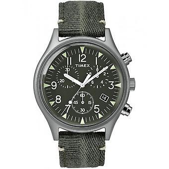 Timex menns ur MK1 stål Chronograph 42 mm stoff armbånd TW2R68600