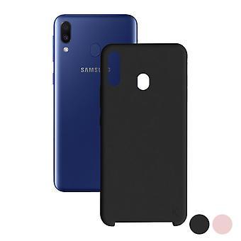 Capa móvel Samsung Galaxy M20 KSIX Soft/Black