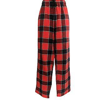 Cuddl Duds Kvinner & apos;s Pyjamas Bukser Fleecewear Stretch Nyhet Rød A371296