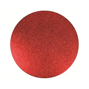 Culpitt 10-quot; (254mm) Double Thick Round Turn Edge Cake Cards Red Foil (3mm Thick)