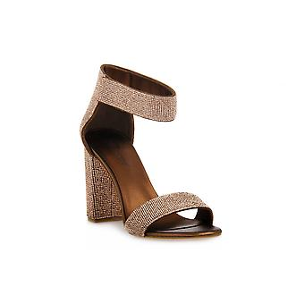 Jeffreycampbell lindsday bronze combo sandals