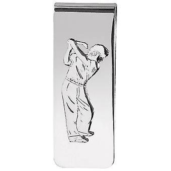 Orton West Golfer Silver Money Clip - Silver