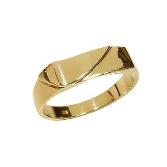 Yellow gold cachet ring