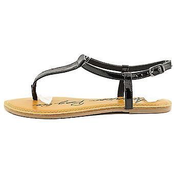 American Rag Womens Krista Leather Open Toe Casual T-Strap Sandals
